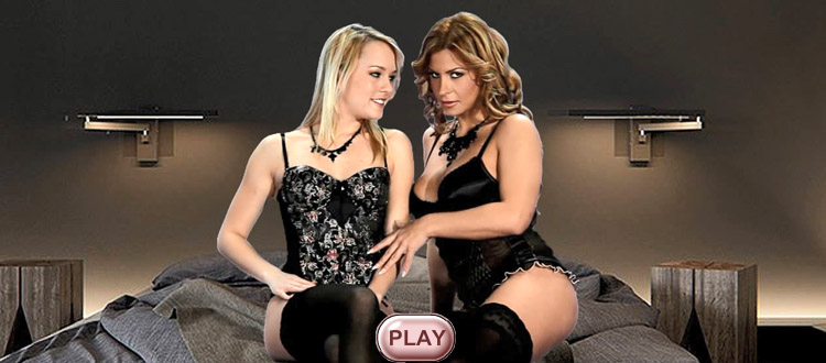 Blue Angel & Dorothy Black live stripping girl, video HiLo cards strip games