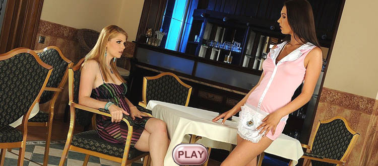 Katalin & Antonya live stripping girl, video HiLo cards strip games